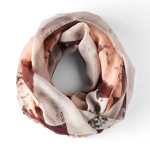 SHop Simply Vera  Floral Infinity Scarf  Here