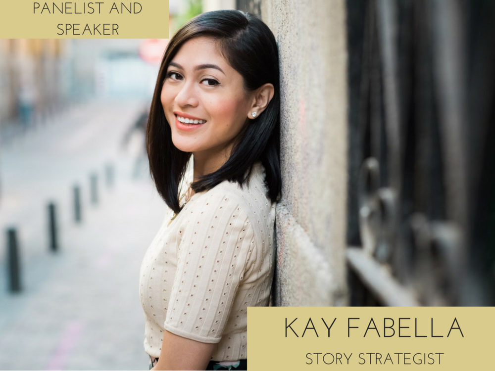 Kay Fabella is a storyteller and communications strategist. She helps entrepreneurs and professionals around the world develop a communication strategy to meaningfully connect with their audiences — and meet their business goals. Kay is also world-recognized author, speaker, and trainer.     A Los Angeles native, she's built her dream business from Spain to train her clients in the US, Europe, Latin America, and Asia to help bring their brands to life. She's also been featured in international media including  El País  and  EFE Emprende .    Check out Kay's stories, tips, and insights on life and business at  kayfabella.com  Or drop her a line at  hello@kayfabella.com .