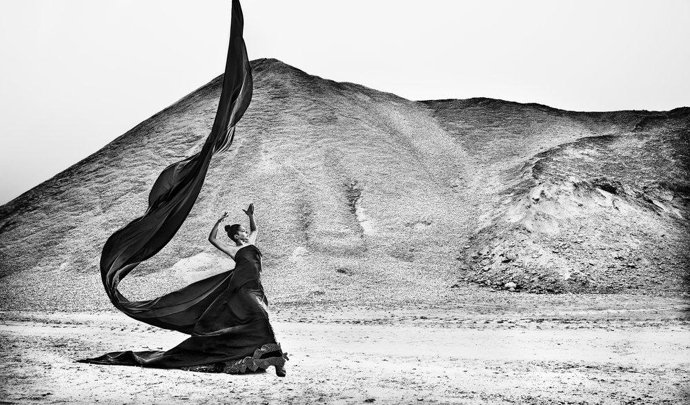 flamenco dance black and white