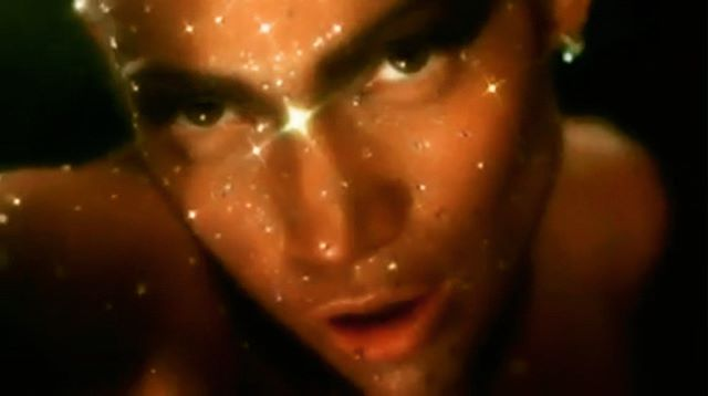 "Inspiration One of my favourite looks of all time: Jennifer Lopez glittering in the jungle at midnight. Created by master visionary Kevyn Aucoin, ""He used different-sized crystals, he sprayed me with airbrushed glitter, he blew glitter [on me]...It was just layers and layers. He was like, 'And we're not going to paint your skin blue, black, or yellow- it's going to be your natural tan skin.'"" Video directed by Francis Lawrence, who went on to direct Constantine, I Am Legend, the Hunger Games series. . . . . #jlo #glitter #beautiful #waitingfortonight"