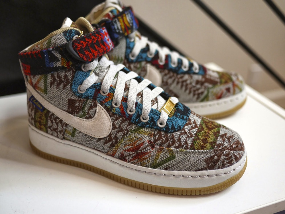 save off 79a1f ee16f ... Pendleton x NikeID Air Force 1 High How do I work those straps ...