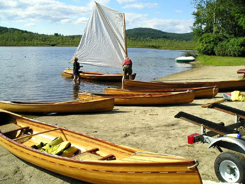 All of Dad's handbuilt boats at Secret Lake, September 2006