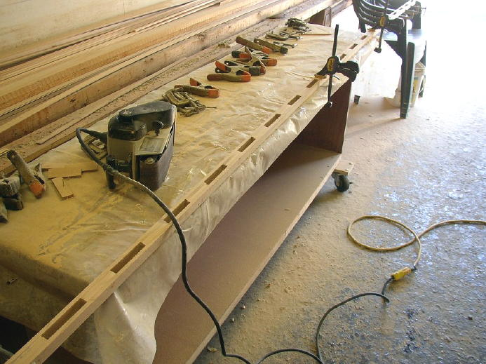 a little belt sander cleans things up