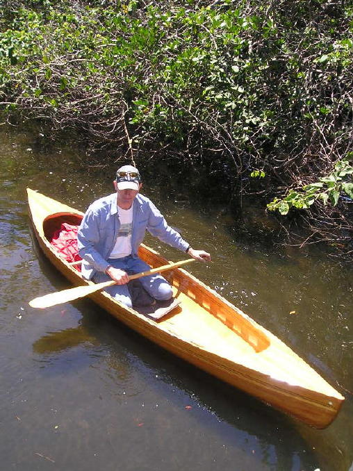 Steven is in love with the canoes my father builds!