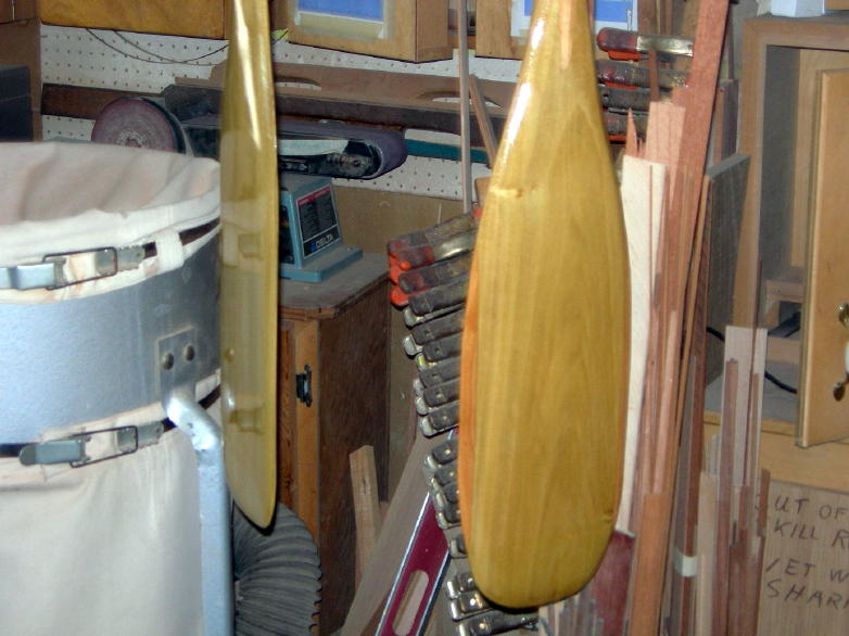 your paddles now have varnish!