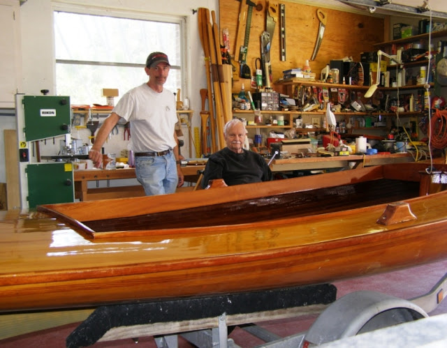2010, Steve and my dad after refinishing Windancer
