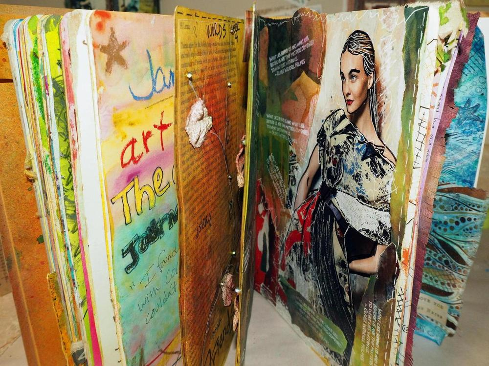 My art journal is growing . . . .