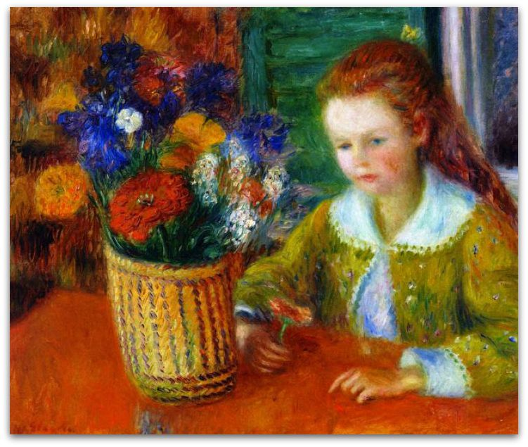 Lenna Glackens & Flowers