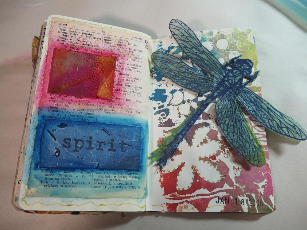 "The last spread  in my 2.5"" x 3.5""   moleskine journal"