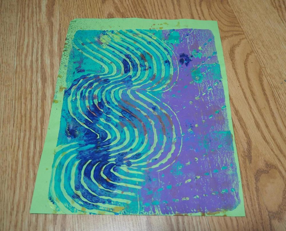A Gelli print sheet