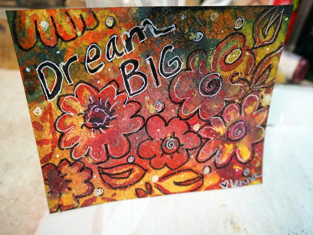 Color Me Positive Week 5  done with a StencilGirl Stencil