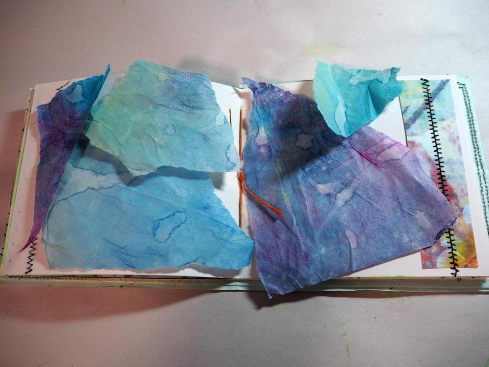 HOW I STARTED . . .    hand painted TISSUE PAPER