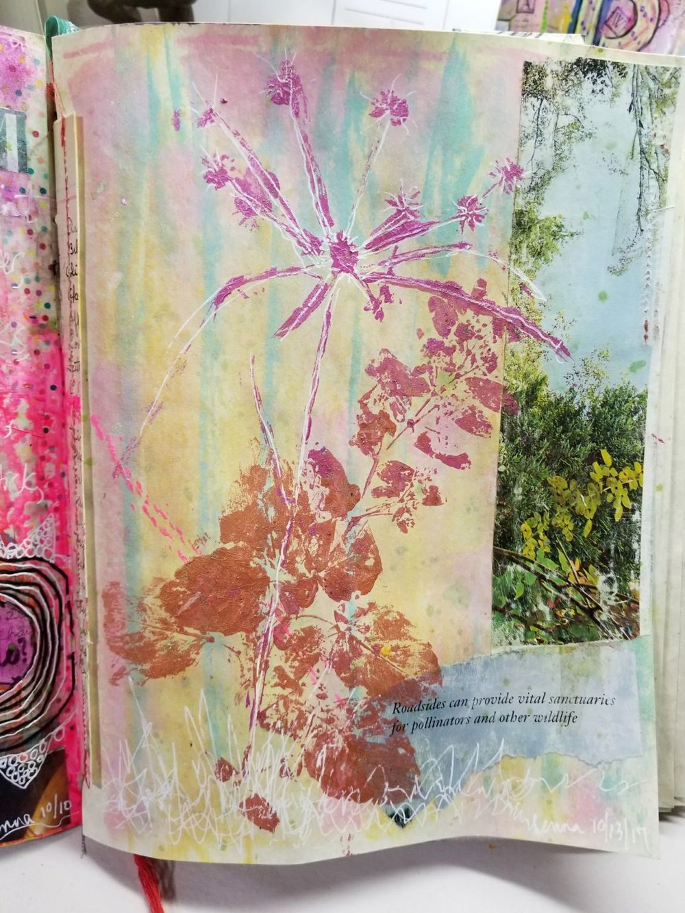pg 3 -nature printing, collage