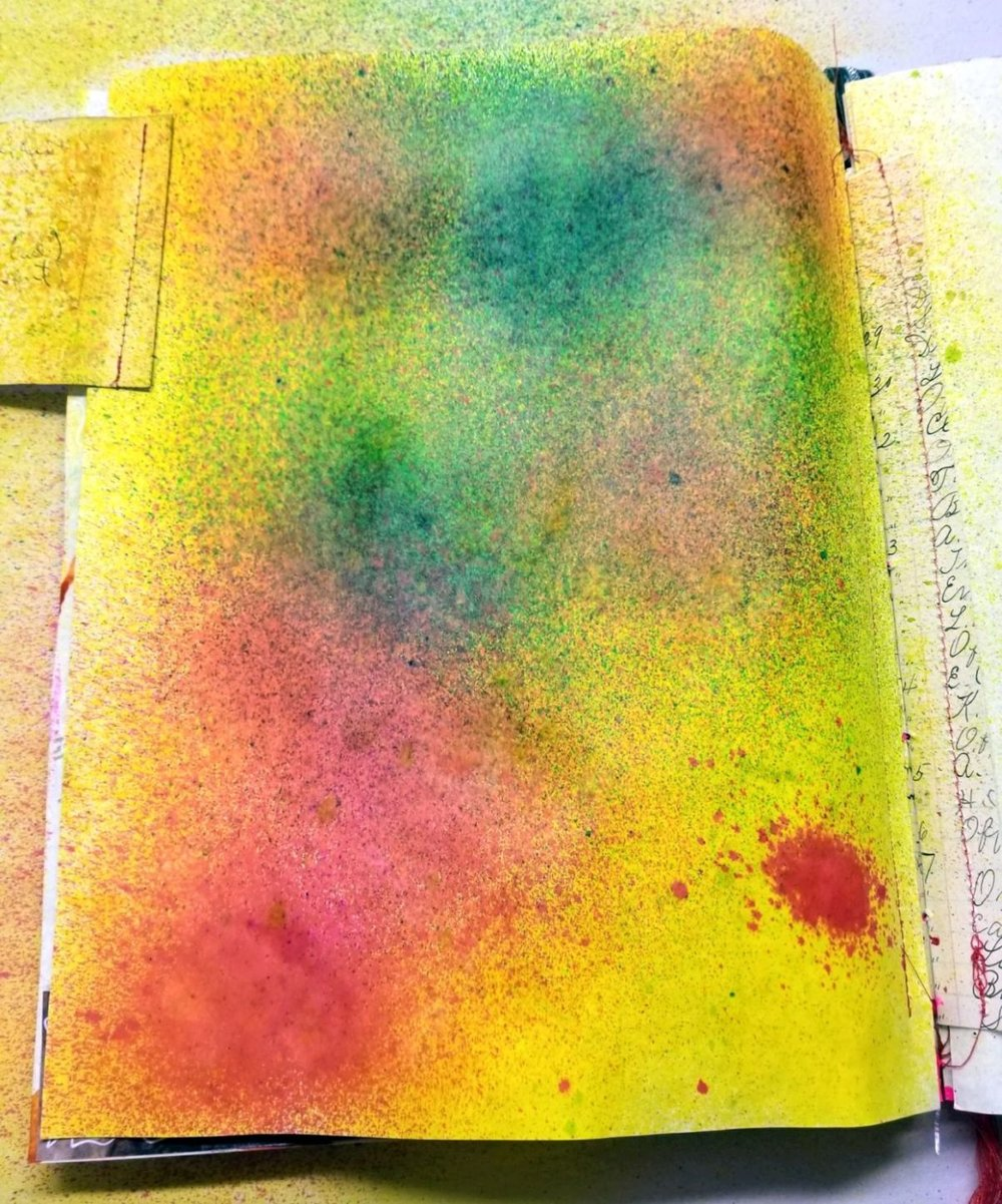 I used spray inks - to start with, and had fun spraying & adding water