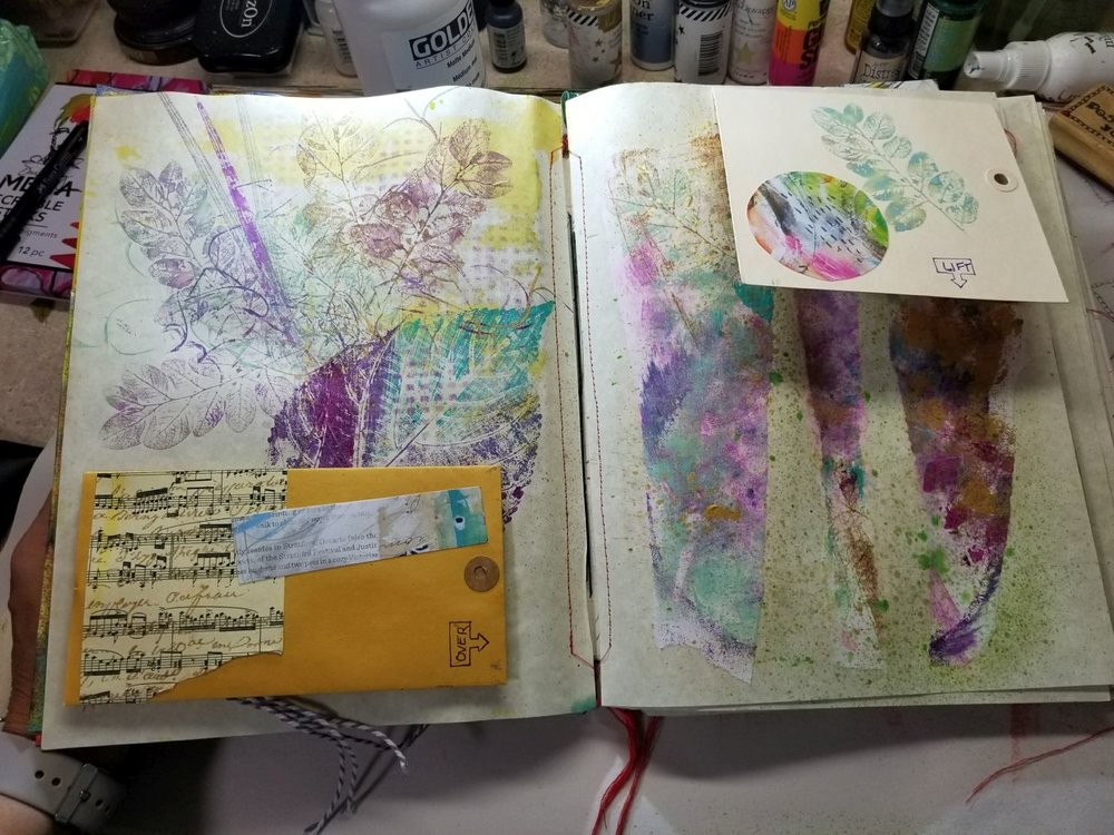 Right side: paper scraps I loved