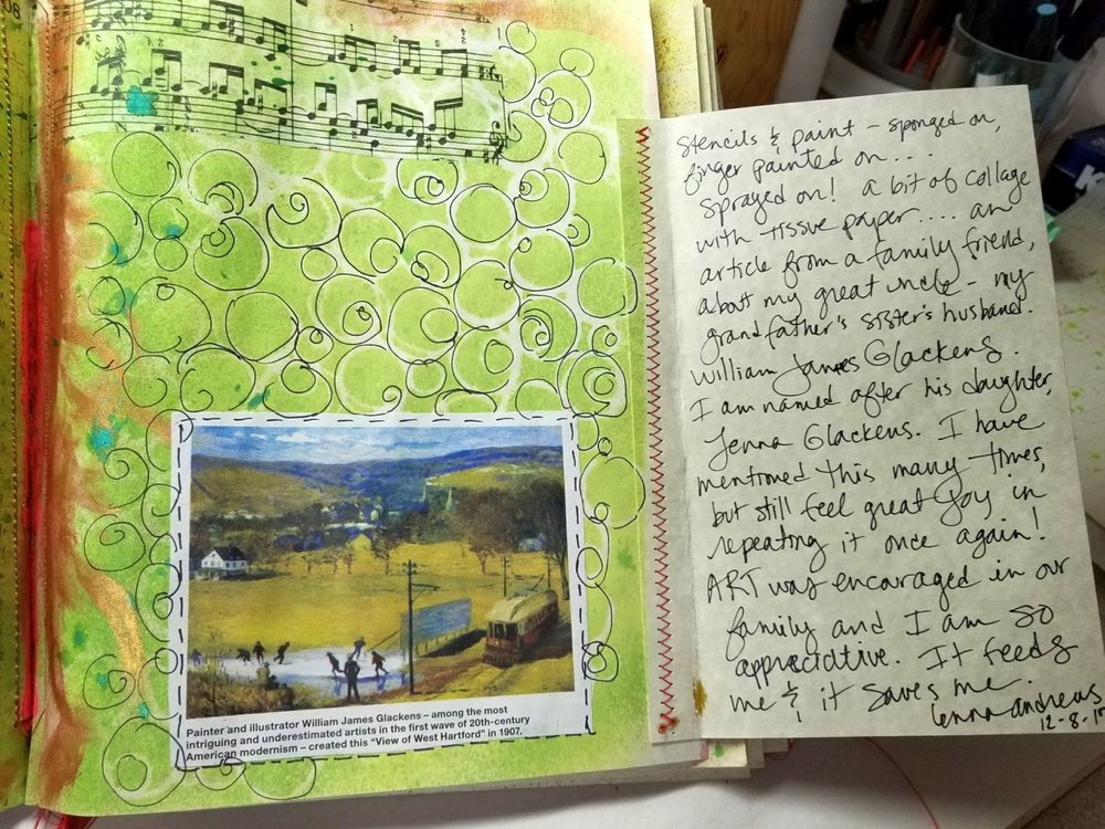 journaling inside the flap