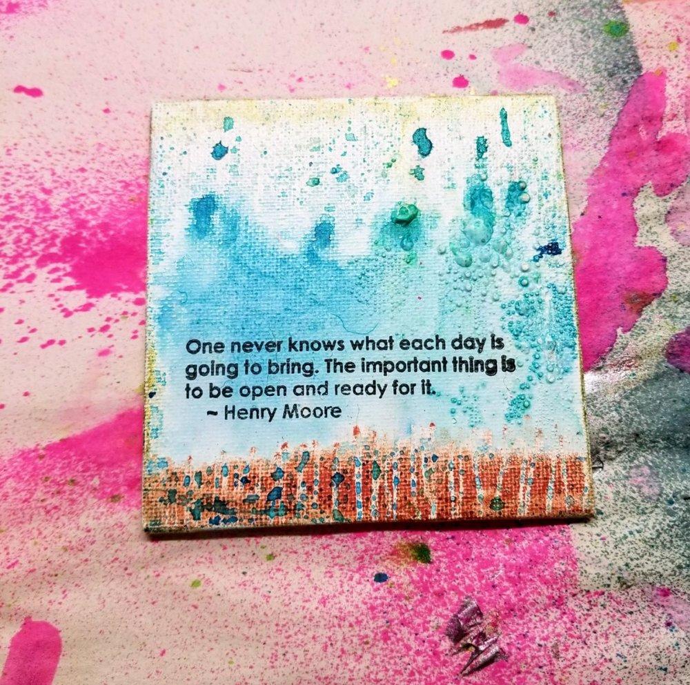 iridescent pastels & spray inks