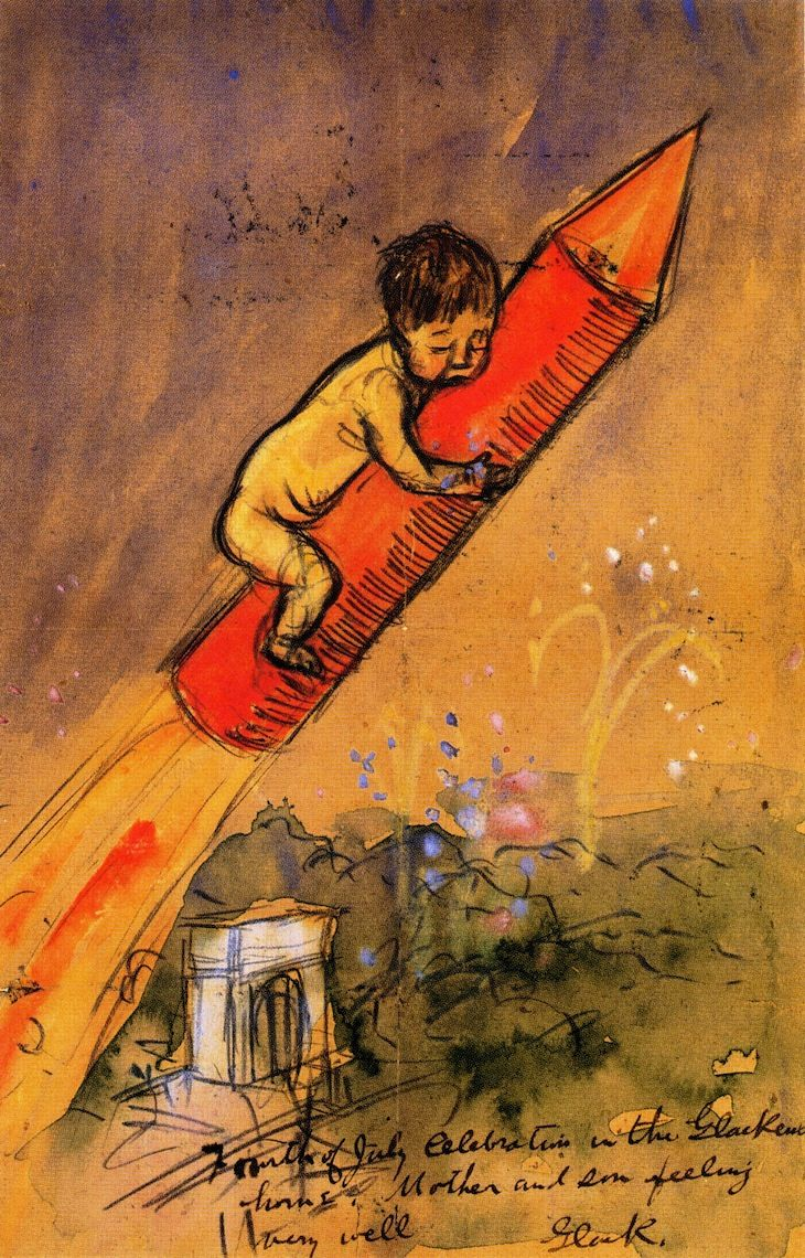 Ira on a Rocket, 1907