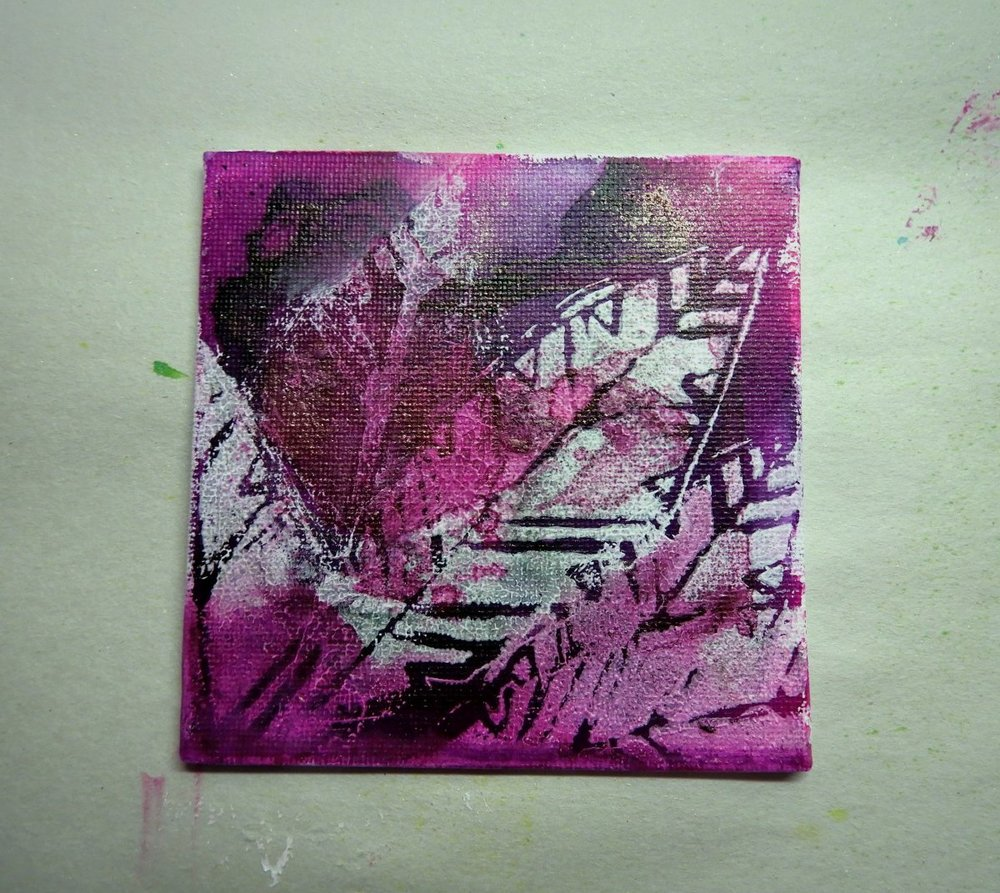 stencil/mask acrylic paint