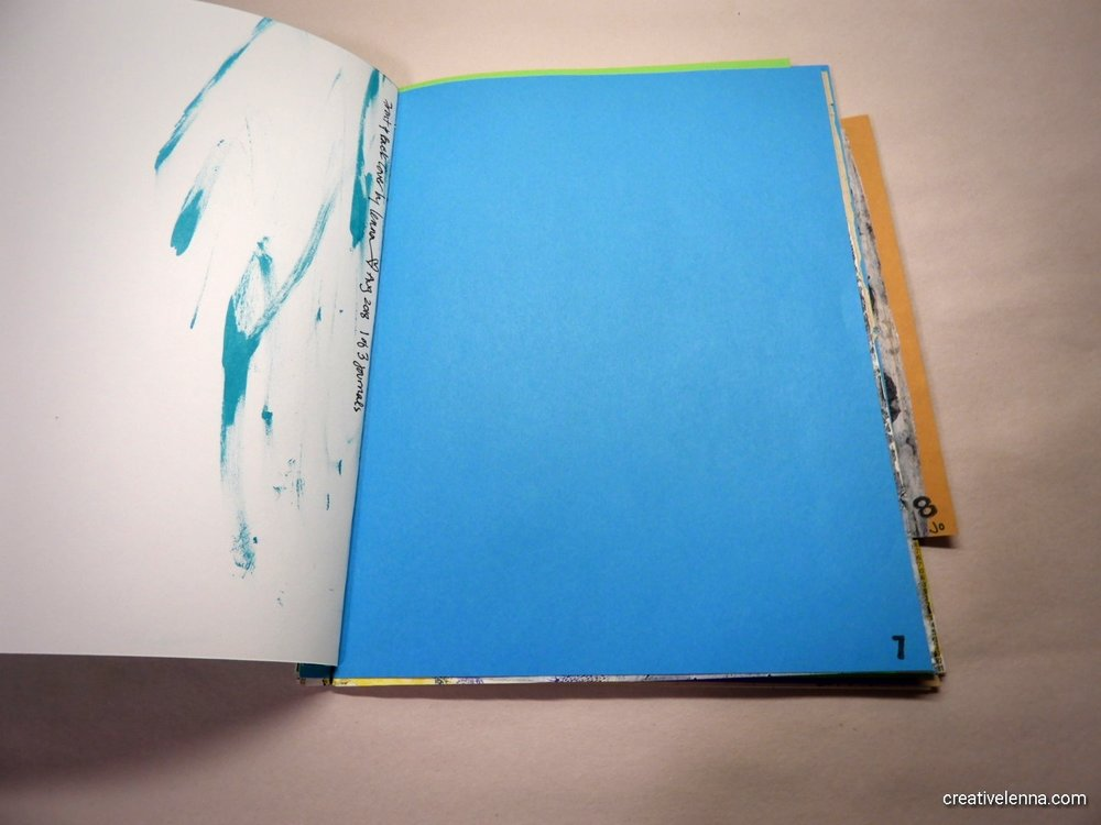 I added blank pages to journal/ art on