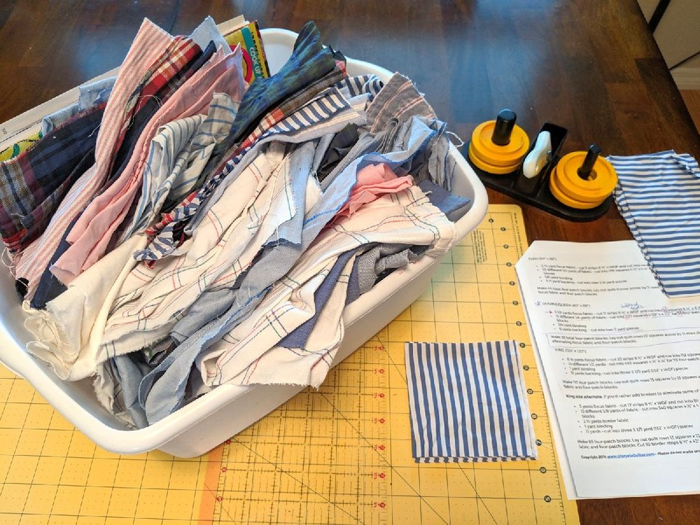 73: starting a quilt for my son