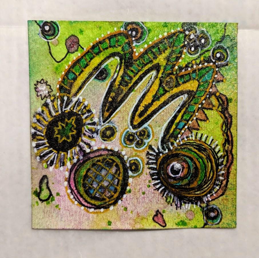 96: 3x3 ink & doodles