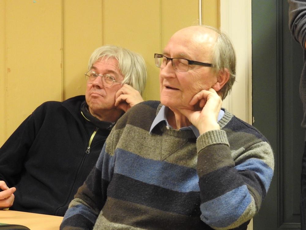 «Gammelrektor» på Lambertseter skole, Hans Nøstvik Eriksen, var blant tilhørerne. Foto: Ragnar Andreassen