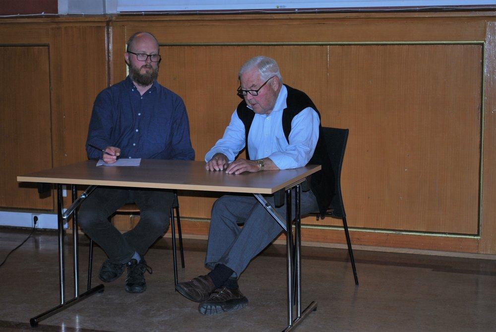 Tidligere SAH-leder Arne Sunde fortalte om hva slags leker han lekte på Grefsen på 30- og 40-tallet. (foto: Per-Ingen Sletvold)