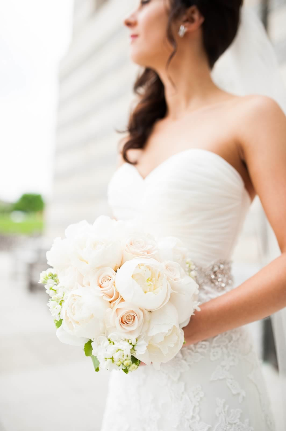 White bridal bouquet with peonies, Vendela and Sahara roses, and white stock 4.jpg