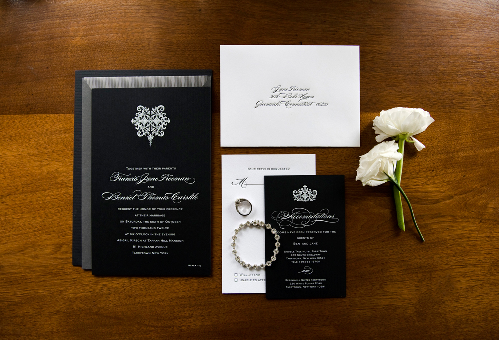 Grace Kelly Wedding Style invitation suite