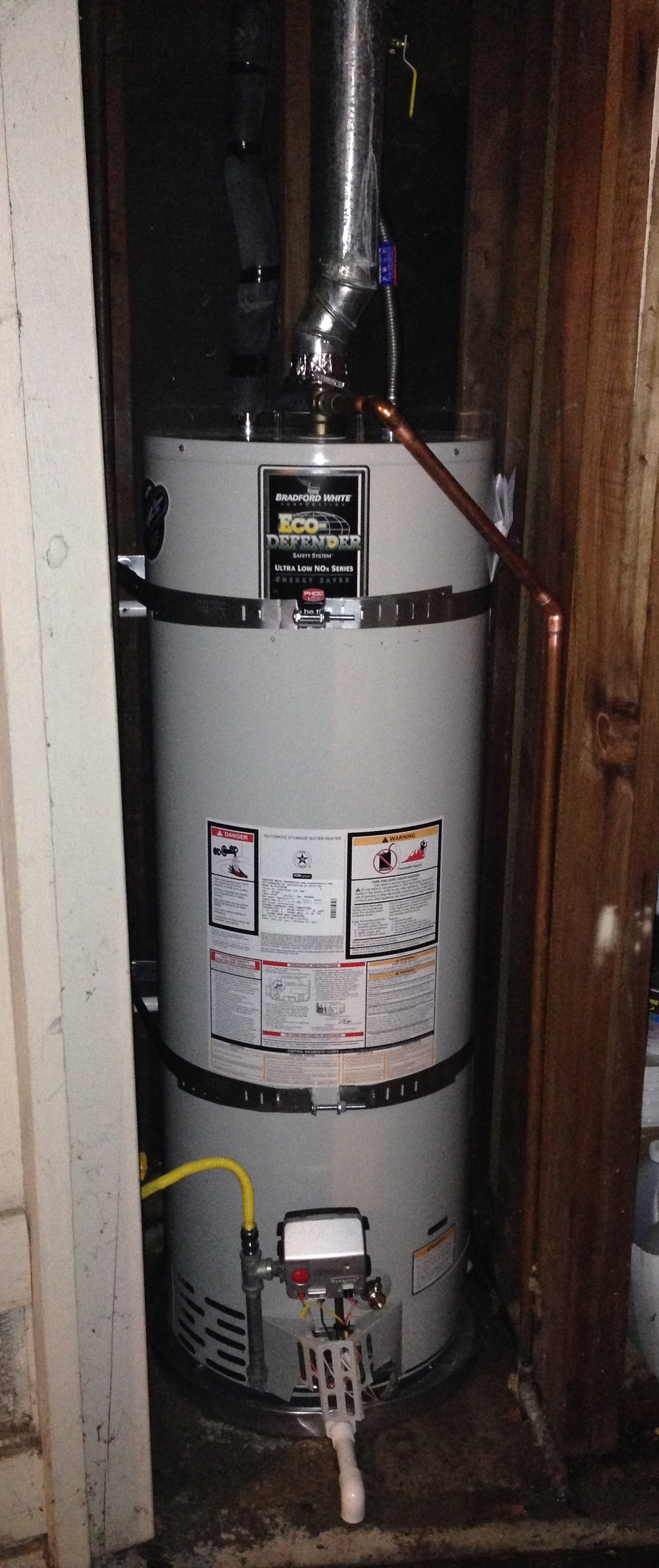 40 Gallon Water Heater Install