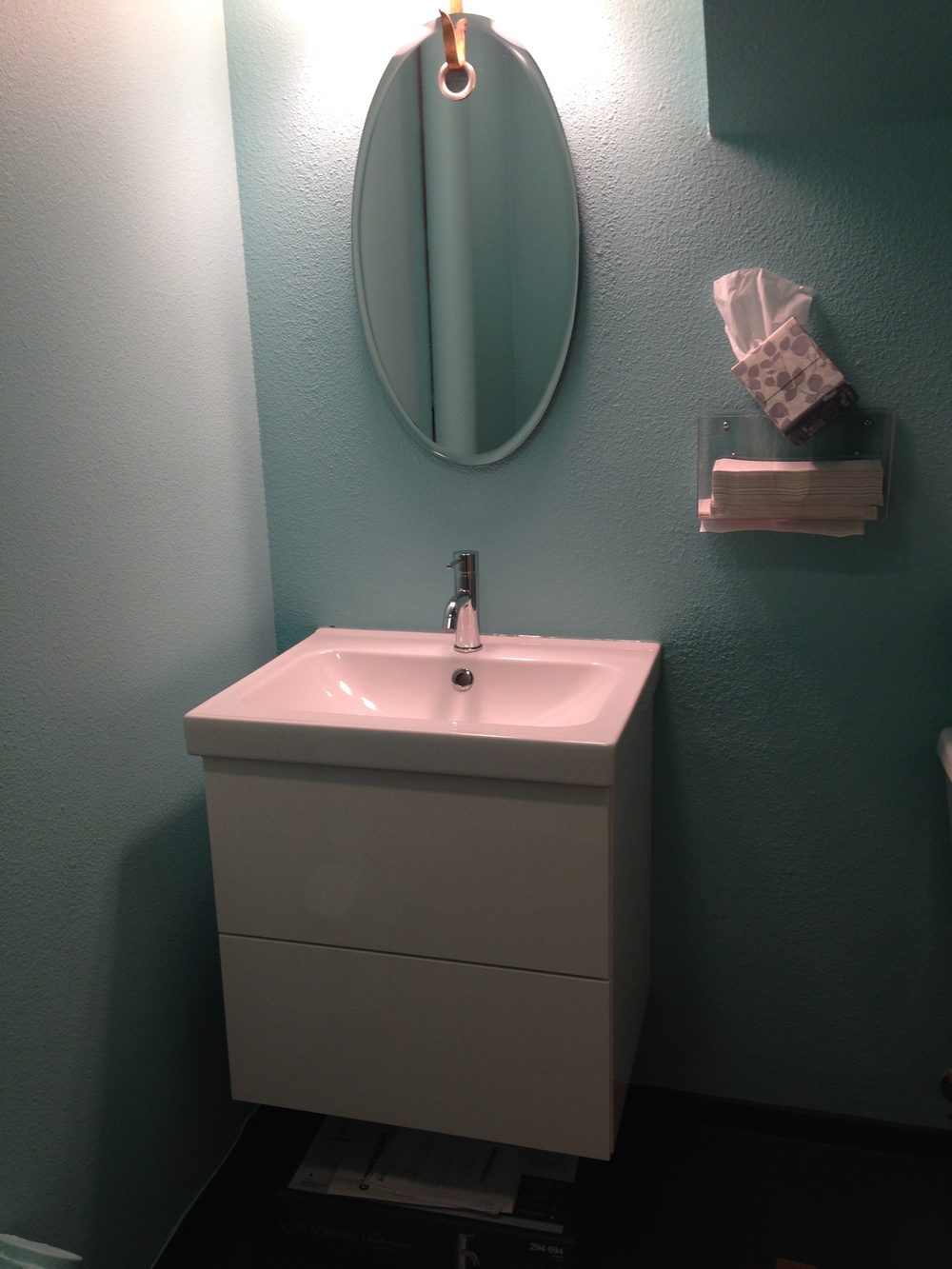Floating Cabinet with new Faucet