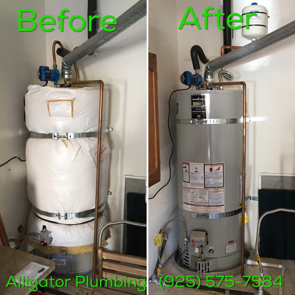 Water Heater Replacement - Before and After
