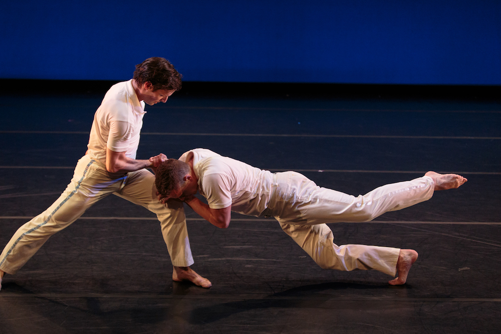 Tobin Del Cuore and Garrett Anderson in Lar Lubovitch's  Concerto Six Twenty-Two .