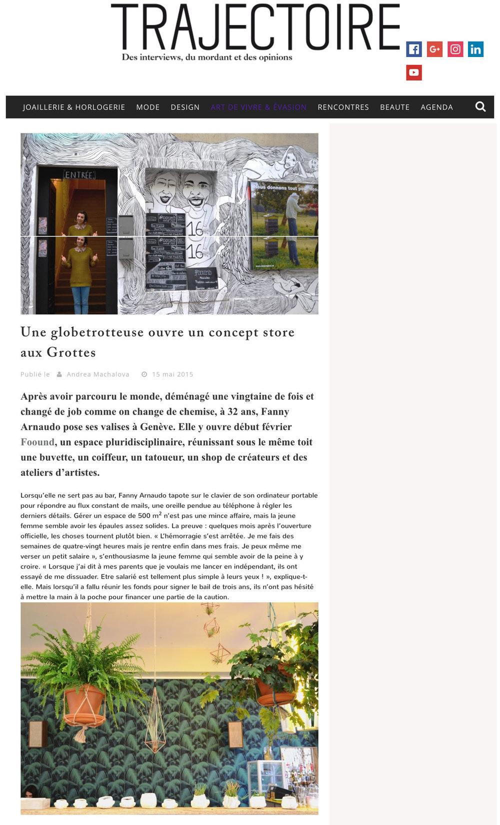 Trajectoire // 15 novembre 2015