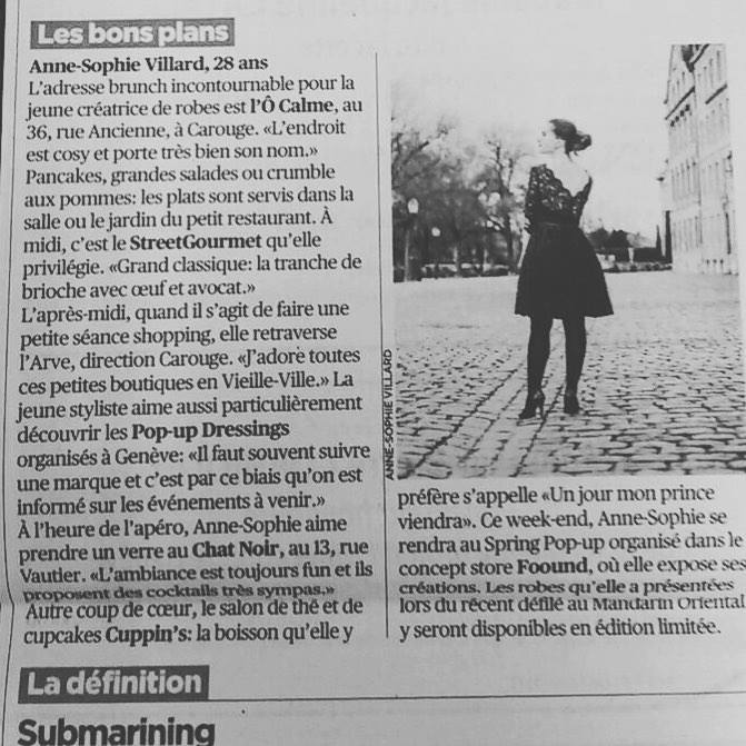 Tribune de Genève - 25 avril 2018