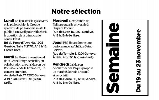 Tribune de Genève - 16 novembre 2018