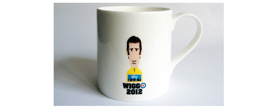 Made in Stoke, fine bone china. The official Team Sky x Rouleur Magazine X RichMitch TDF winning mug.