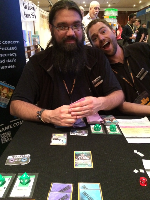 The creator of Oligarchy who was kind enough to let me win a game at the Expo!