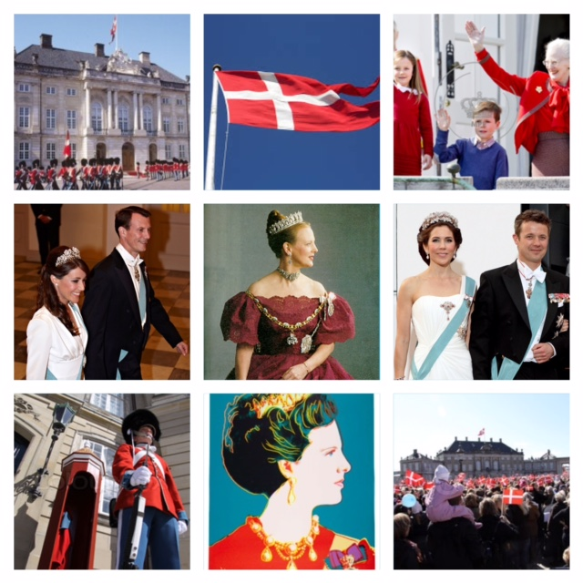 A Grandma with her grandchildren , children and all of Denmark who comes to pay their respect, on her birthday. Even if reality hits us sometimes, Denmark is still one of the best countries to live in, modern, great and save. Long live The Queen.  Christina