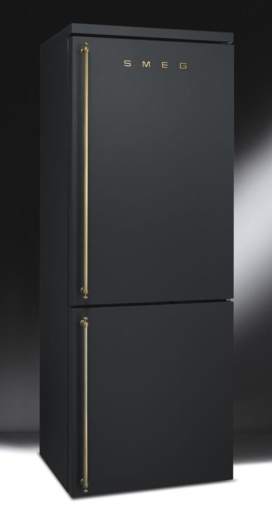 Fridge from   SMEG   in black.