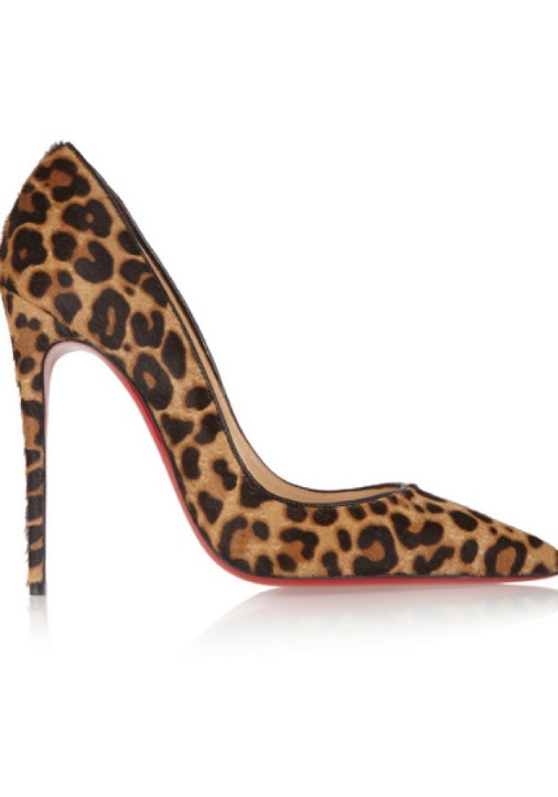 CHRISTIAN LOUBOUTIN So Kate 120 leopard-print calf hair pump  s