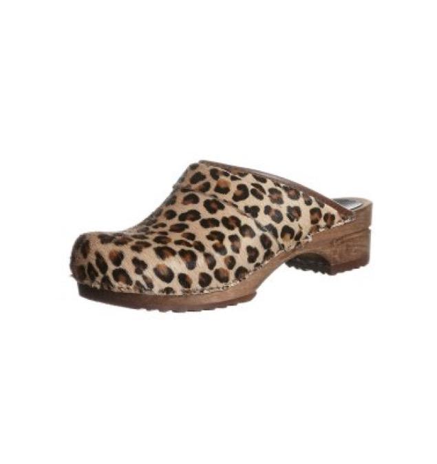 Sanita CAROLINE - Træsko - brown leopard