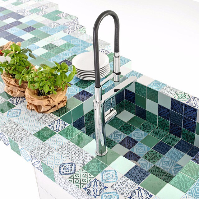 Mini tiles to create you own costume made sink for kitchen or bathroom.