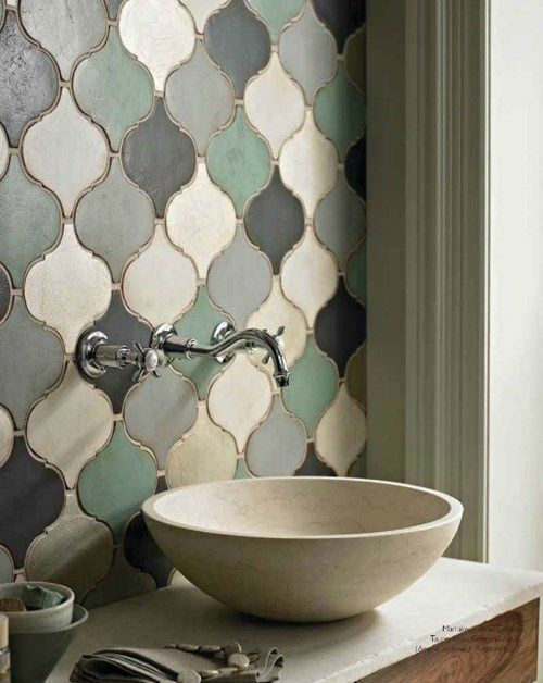 "New ""antique"" rustic tiles in beautiful shapes gives this classic look in a modern way."