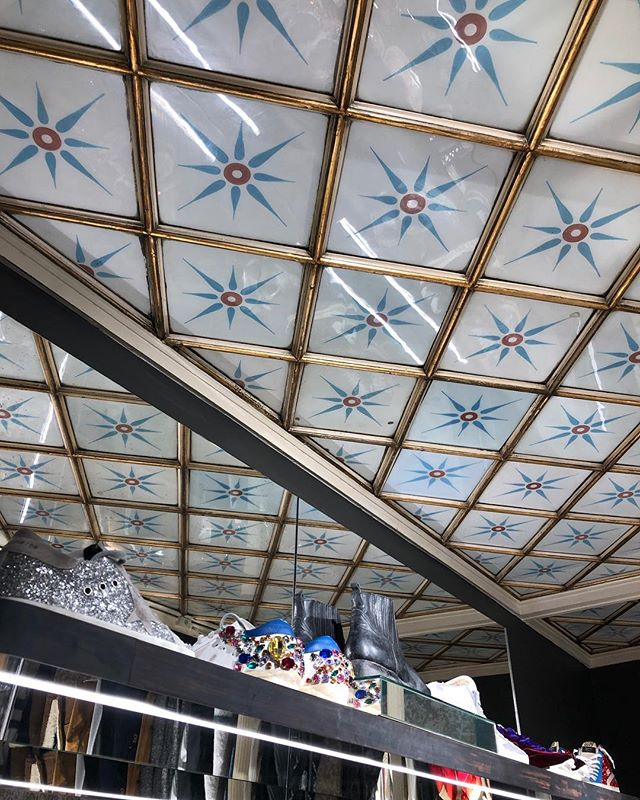 Beautiful ceiling in favourite sneaker store @goldengoosedeluxebrand Copenhagen