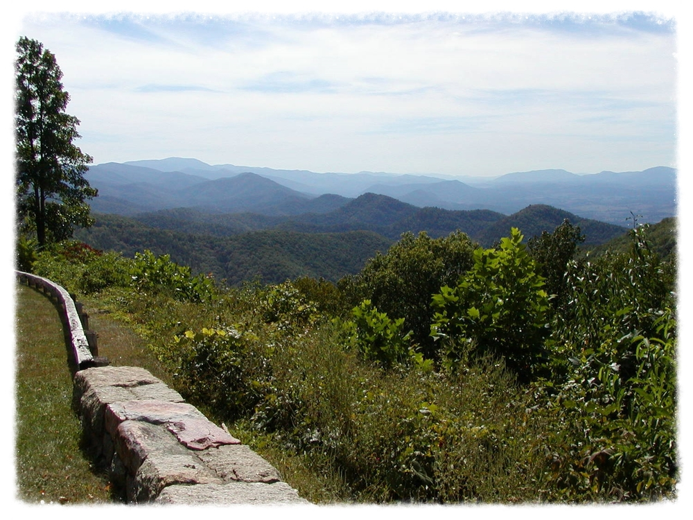 View from the Blue Ridge Parkway above Buena Vista.