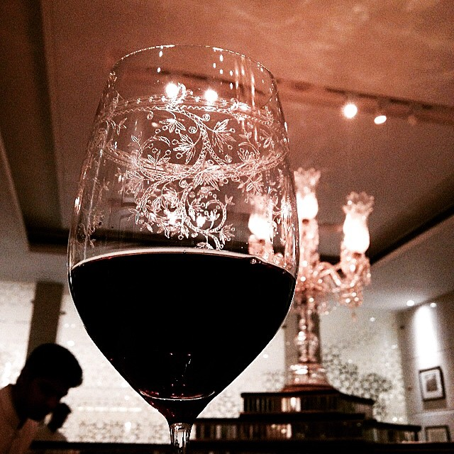 Love the wine glasses at Sahib Room. High time I sneaked a few out.