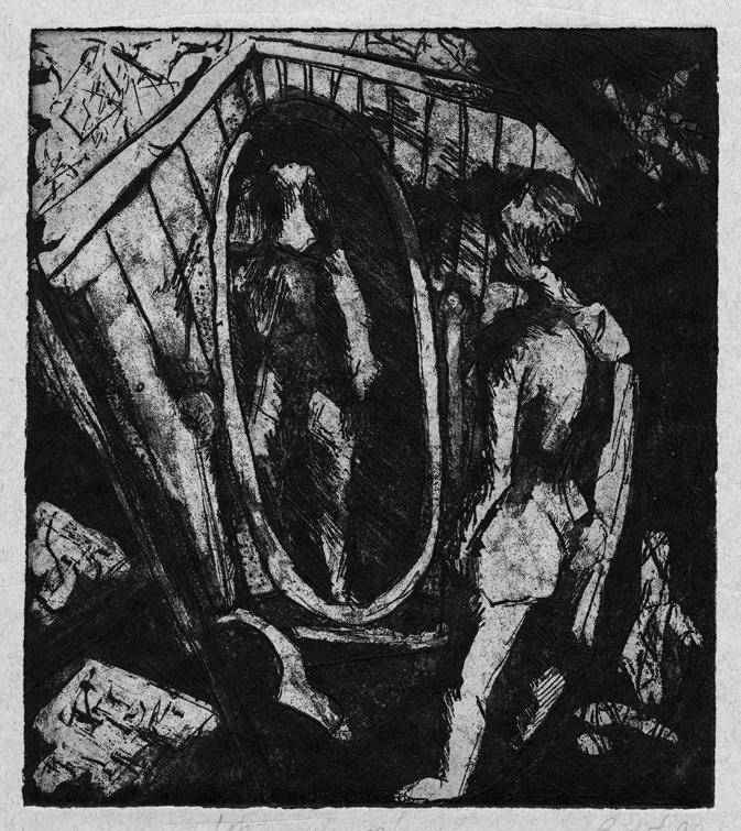 Mirror mirror. Etching. From my archives.