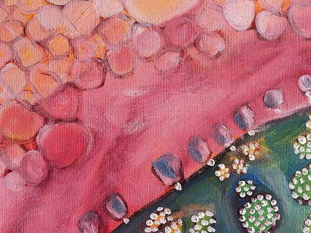 Detail of work in progress